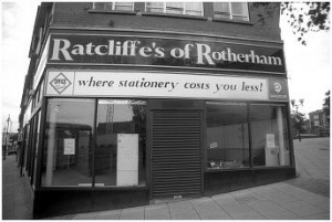 Ratcliffe Stationary. Once a prominent family  business