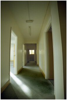 Upstairs corridor leading to various offices