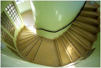 This is the beautiful spiral stairway leading all the way to the top of the building
