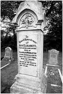 The Ann Elizabeth's grave