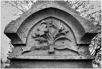 The top of a gravestone