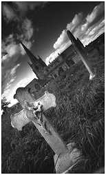 (3N)   The graveyard of ST JAMES church in Anston