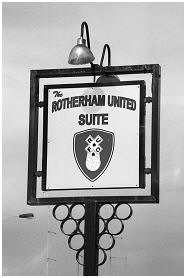 The Rotherham United Suite. An entertaining area within the ground