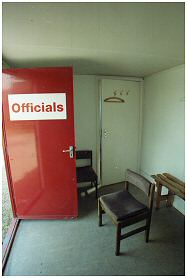 This is a porta-cabin providing changing facilities to referees