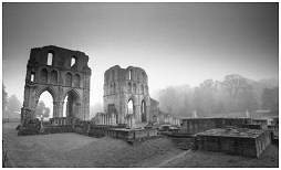 (1E)   The ruins of ROCHE ABBEY Monastery. Dissolved in 1538 by order of the Crown