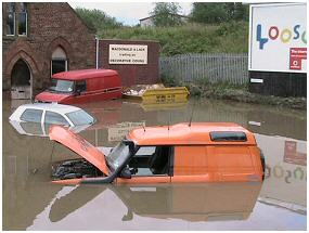 Flooded vehicles