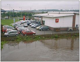Car dealer next to river Don at Ickles.