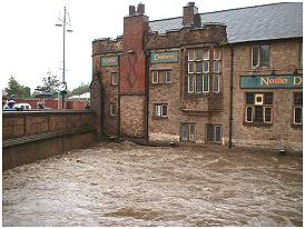 The Nellie Dene Pub next to the Chantry Bridge