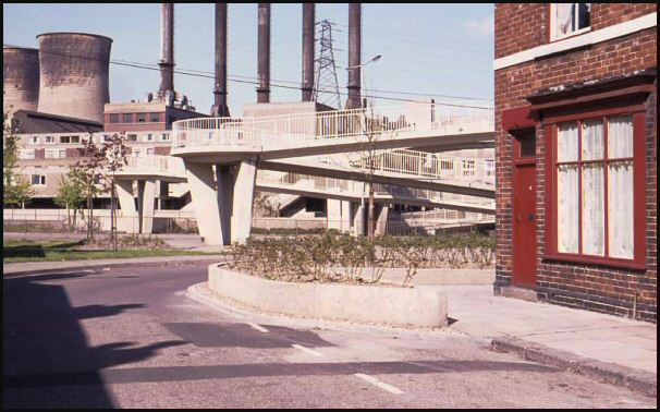 St Ann's Road and power station in the 1970's