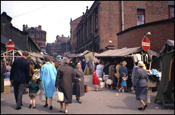 Market day on Domine Lane in 1964.