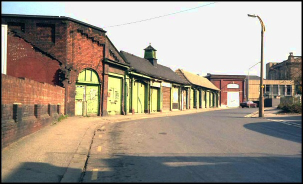 Old market buildings in 1982