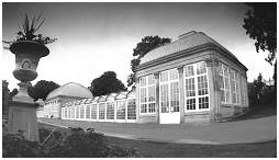 (S1C)  The glass pavilions of Botanical Gardens. Opened mid 1830's