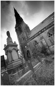 (S5 P)     The Anglian Chapel of the General Cemetery. Initially opened for the non-conformists in 1850
