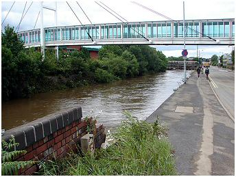 River Don next to Meadowhall Road
