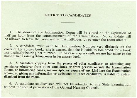 Notice to candidates