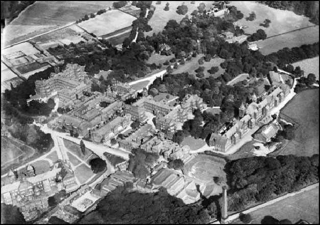 Aerial view of the hospital