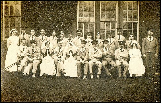 Staff and patients during the First World War