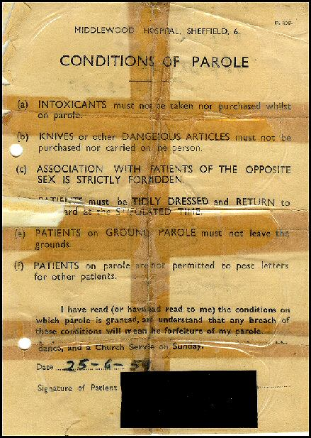Parole conditions in 1959