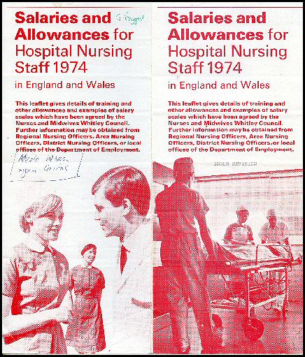 Nurses pay scale leaflet