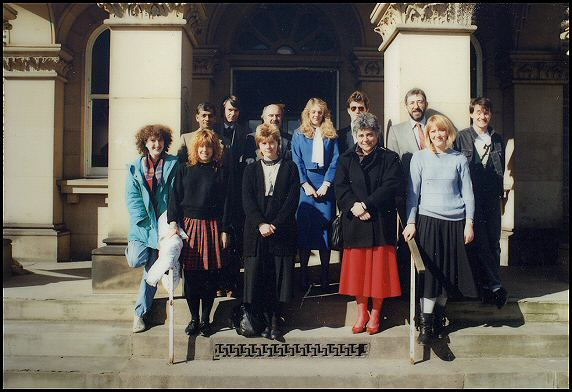 Middlewood staff outside the Administration building
