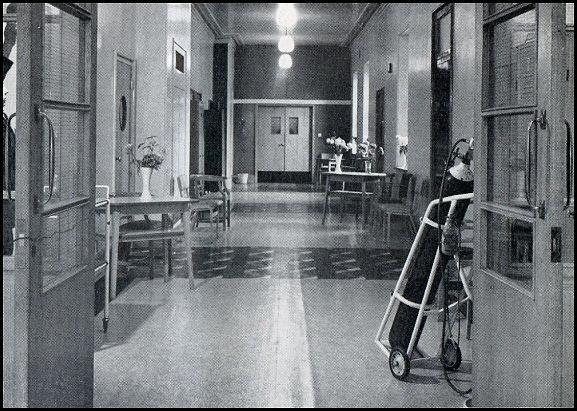 Corridor on ward 4A in 1967