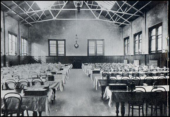 Dining hall in Victorian times