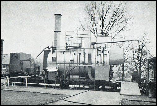 The boiler in action