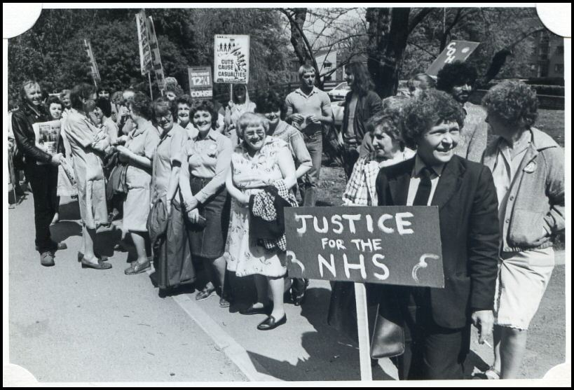 Staff outside Northern General Hospital