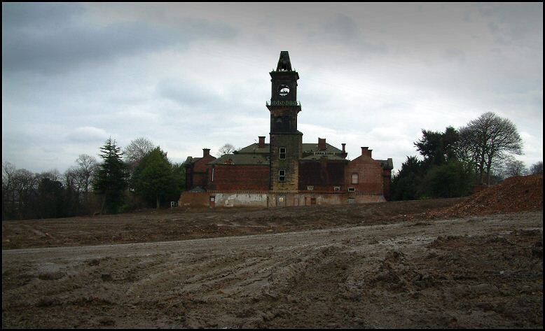 The hospital during redevelopment