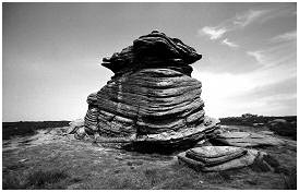(S5 M)     Rock situated on the outskirts of Sheffield. On the road to Bakewell