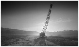(4S)   This massive crane parked on what used to be the Silverwood coal mine.Thrybergh
