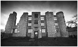 (4A)   THORPE SALVIN HALL. Built in the 1570's. Sufficient is left of the frontage to make an  impressive sight